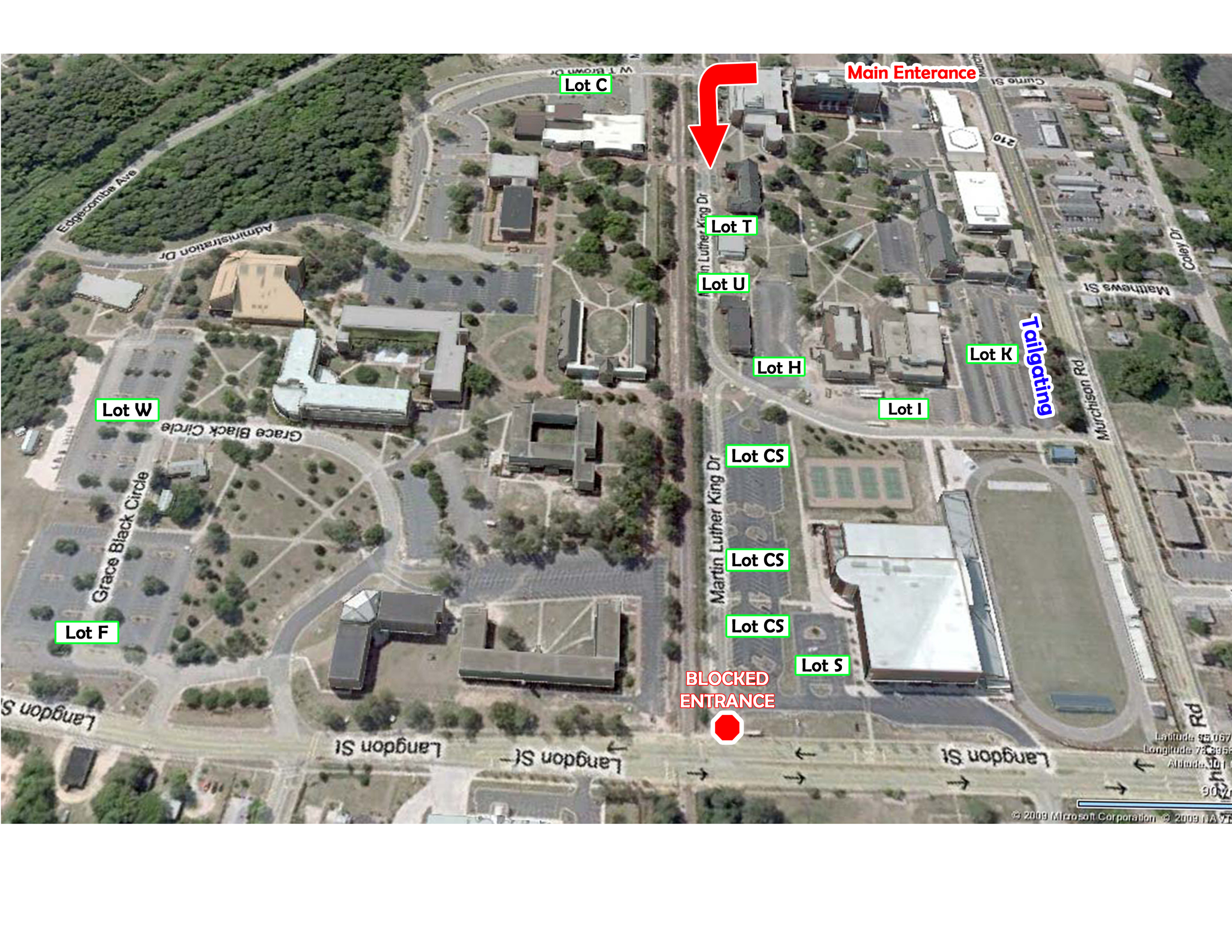 fayetteville state campus map Directions Fayetteville State University Athletics fayetteville state campus map