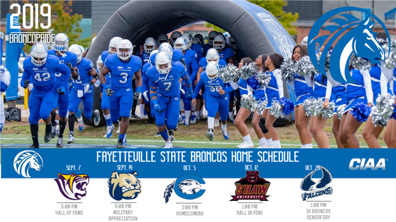 Fayetteville State Releases 2019 Football Schedule And Season Ticket Prices Fayetteville State University Athletics